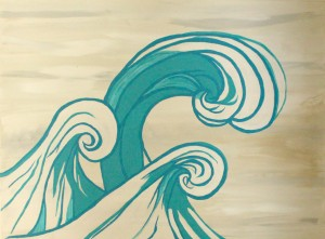 wave painting | Delightful Mom Food