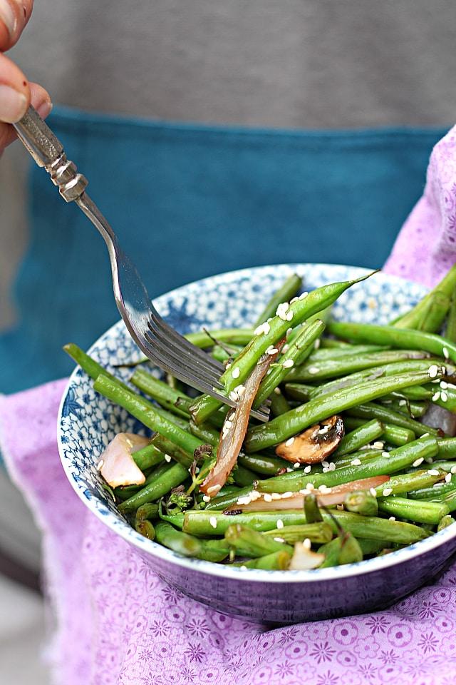 Asian string beans