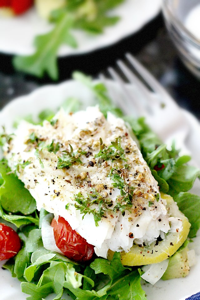 baked cod fish salad