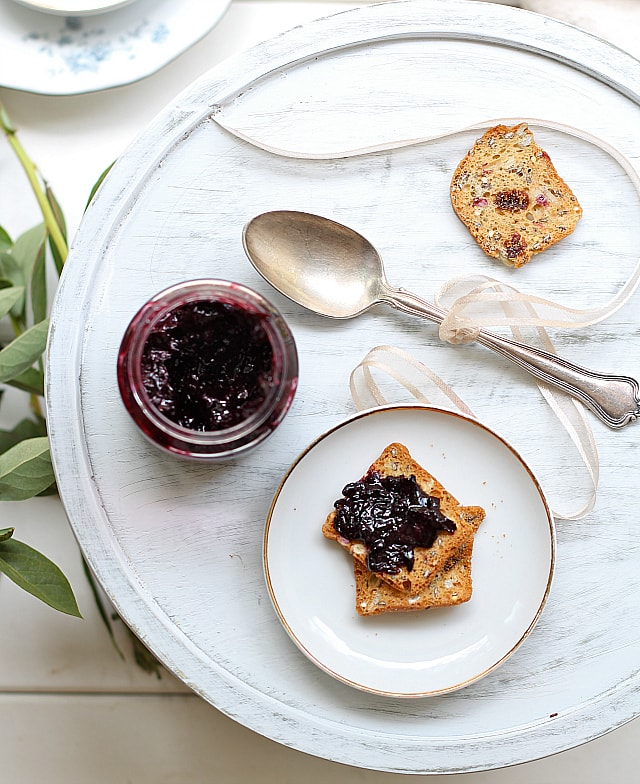 low sugar homemade blueberry jam recipe