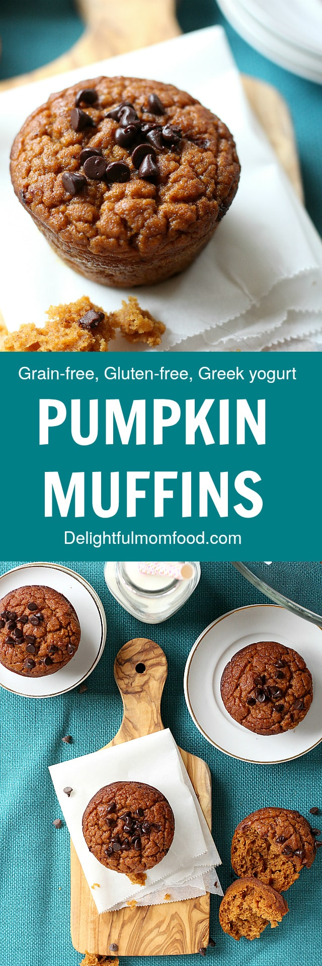 Crazy moist grain free pumpkin muffins recipe!