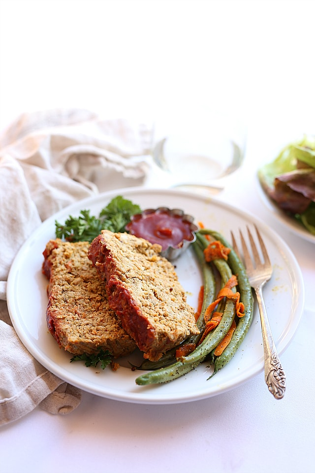 Veggie filled turkey meatloaf!