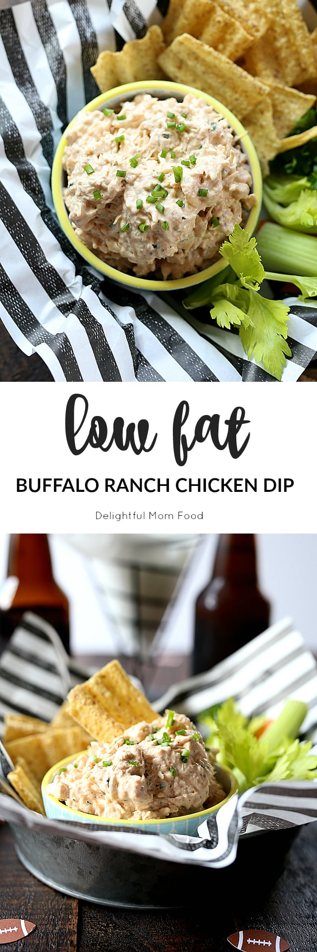Healthy Buffalo Ranch Chicken Dip