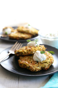 Baked Paleo Zucchini Fritters With Ranch Sauce