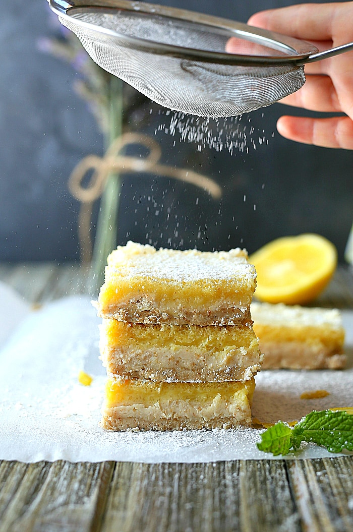 healthy lemon bar recipe