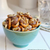 Pretzels Topped With Caramel Chocolate And Toasted Walnuts {Gluten Free}