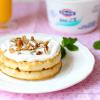Waffles With Low Sugar Maple Greek Yogurt
