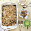 Healthy Peanut Butter and Jelly Oatmeal Bake