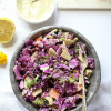 Savoy Cabbage Salad With Apple Cider Tahini Dressing