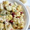 Roasted Cauliflower and Cranberry with Sage Butter