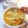 Healing Slow Cooker Rice Soup With Vegetables
