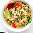 Thai Coconut Crab Zucchini Pasta Bowls