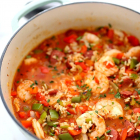 Healthy Jambalaya with Shrimp and Sausage