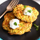 Zucchini Fritters (baked not fried!)