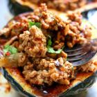 Acorn Stuffed Squash With Korean BBQ Ground Turkey