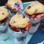 Greek Yogurt Cardamom Cherry Pecan Scones