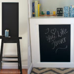 Duct Tape Fun + Chalkboard Area For Kids