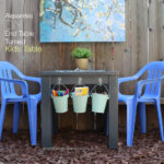 Repainted DIY End Table Turned To Kids Table