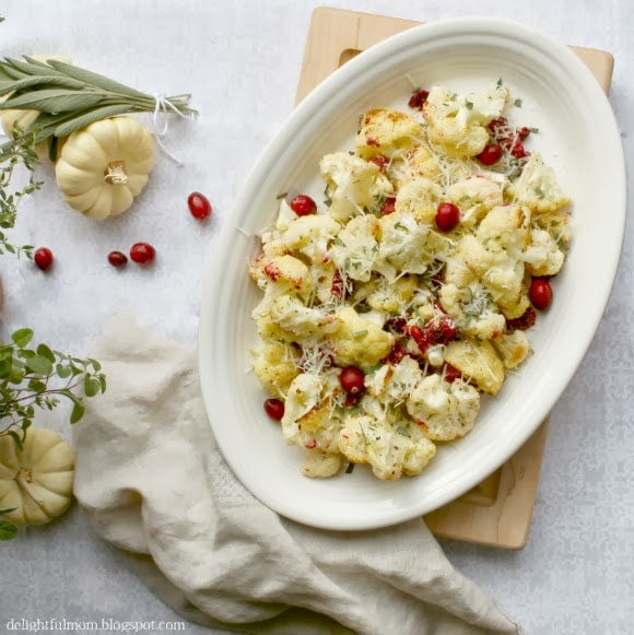 roasted cauliflower and cranberry recipe