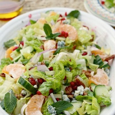 10 Minute Healthy Pomegranate Salad