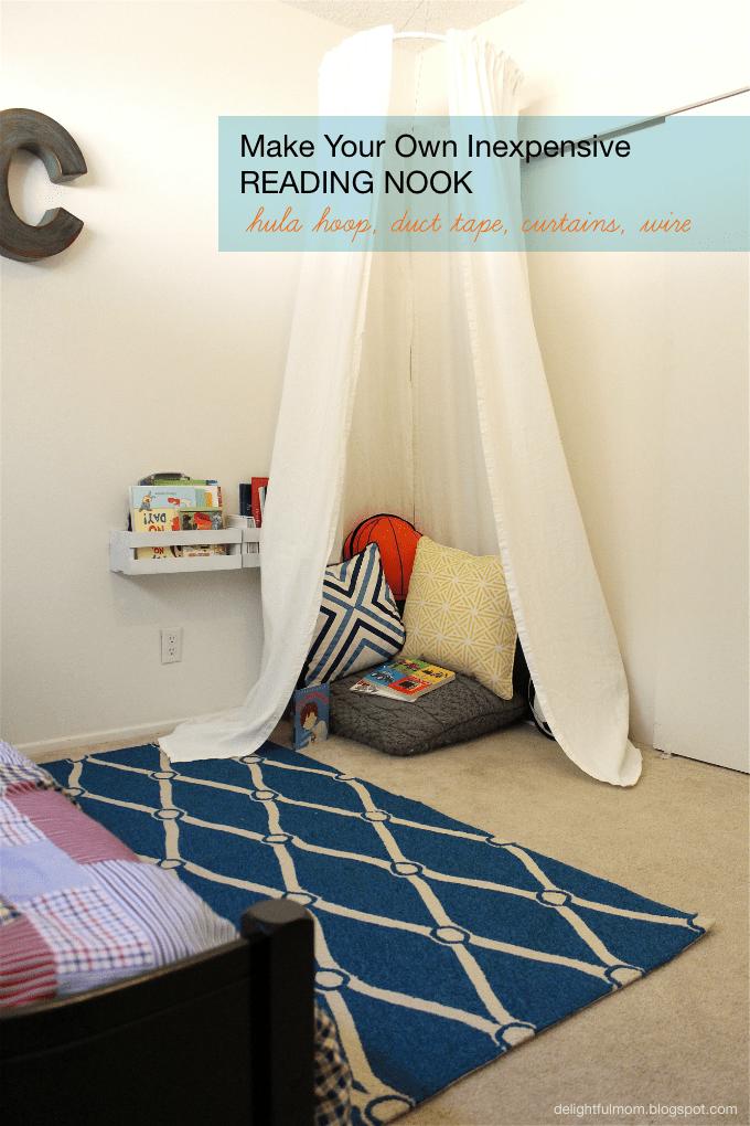 Inexpensive Bedroom Reading Nook: DIY