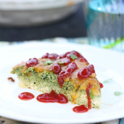 Green Eggs Made With Kale, Tomatoes and Onions