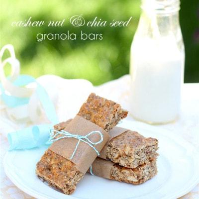 Chia Seed Granola Bars With Cashews