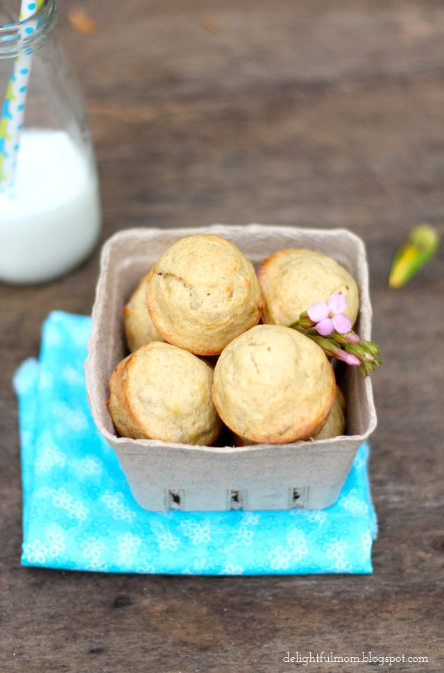 Healthy Olive Oil Banana Nut Mini Muffins