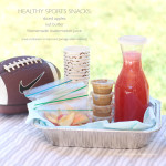 Healthy Sports Snacks With Watermelon Juice