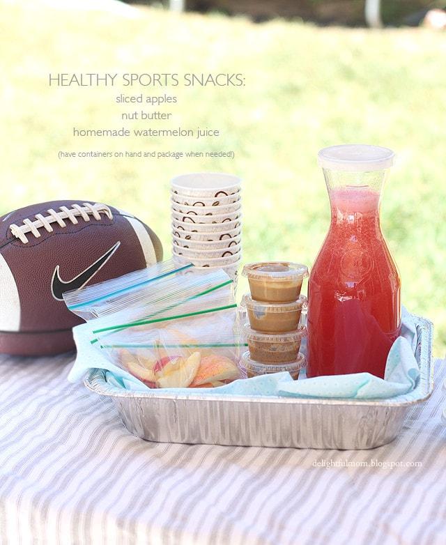 Healthy Sports Snacks With Watermelon Juice