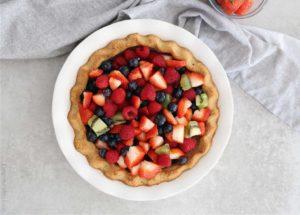 fresh fruit pie in a paleo crust