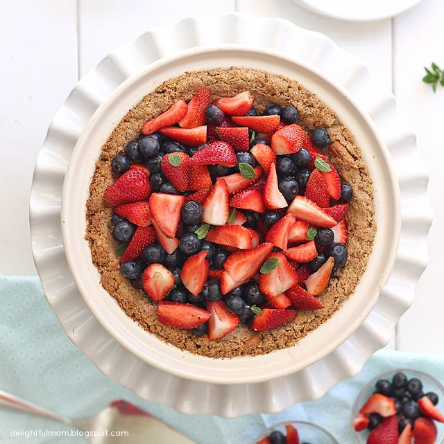 fruit filled paleo pie crust