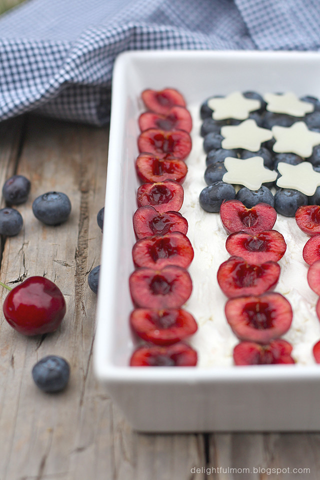 Red White Blue Fruit Cheese Plate