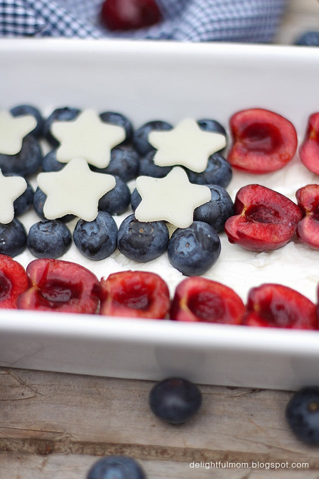 flag fruit cheese plate