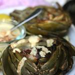Grilled Artichoke With Cashew Cheese Dip