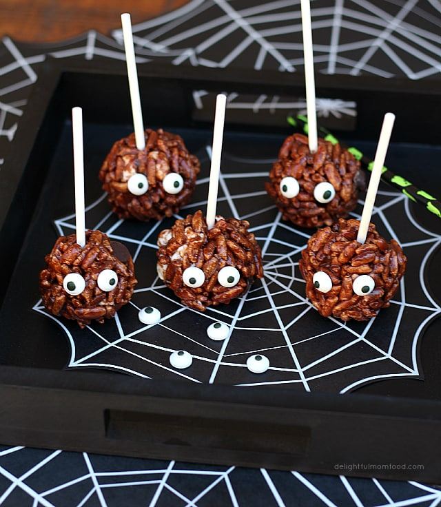 Healthy Ghostly Chocolate Marshmallow Treats