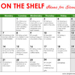 Elf On The Shelf Ideas For A Month