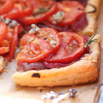 Tomato Onion Tart with Caramel Onions