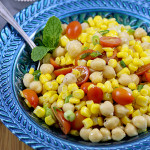 Chickpea Corn Tomato Salad