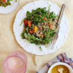Arugula Quinoa Salad With Champagne Vinaigrette Dressing