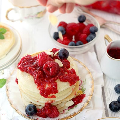 Easy Pancake Recipe With Raspberry Sauce