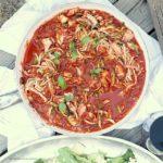 Zucchini Pasta In Marinara Sauce