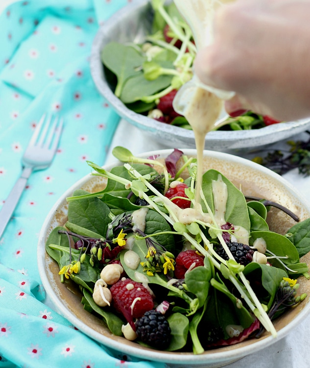 Spinach Salad With Honey Mustard Vinaigrette Recipe — Dishmaps