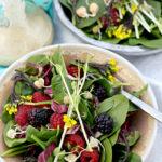 Spinach Salad Recipe with Honey Mustard Dressing