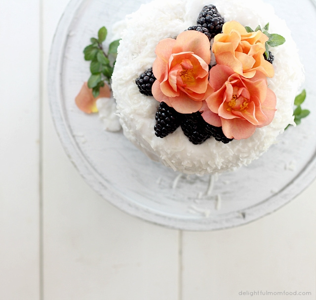 top of gluten free cake