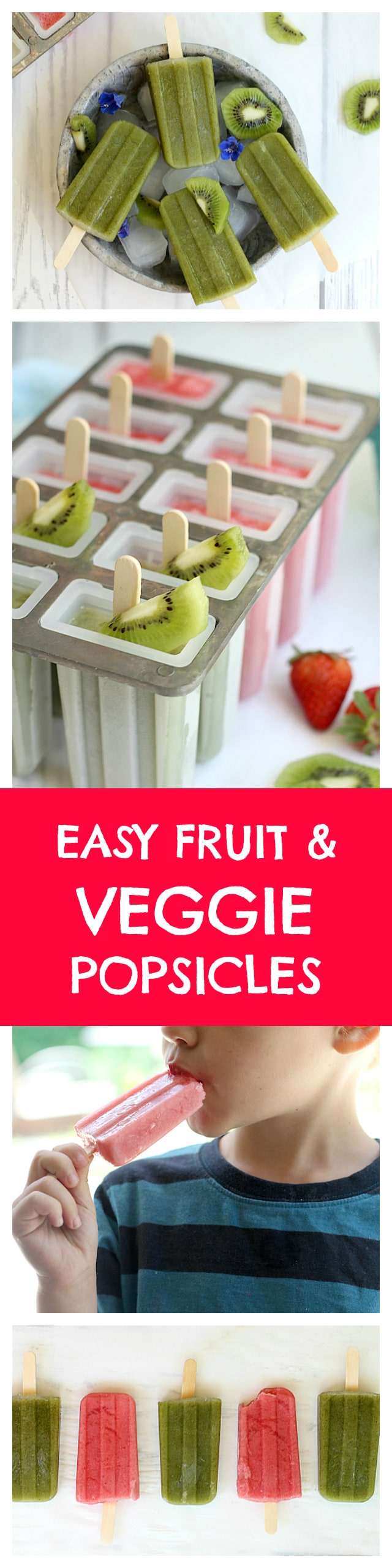 Kiwi Spinach and Strawberry Banana Popsicle Recipes | Delightful Mom Food