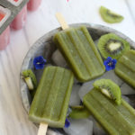 Easy Popsicle Recipes With Two Flavors Strawberry Banana, Kiwi Spinach