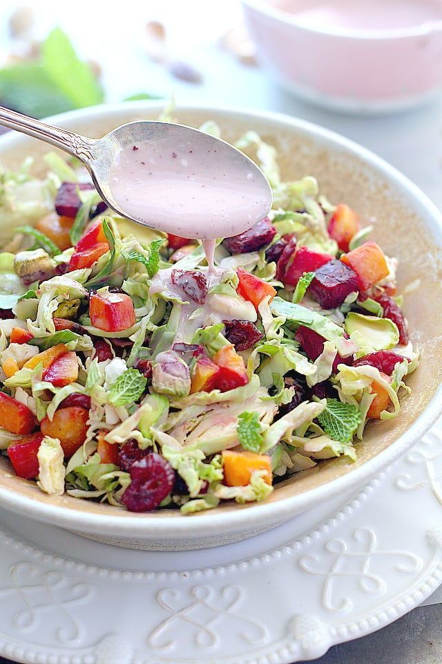 Brussels Sprouts Salad With Roasted Beets
