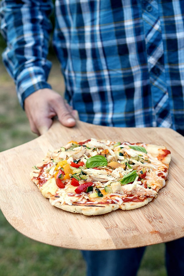excellent grilled pizza