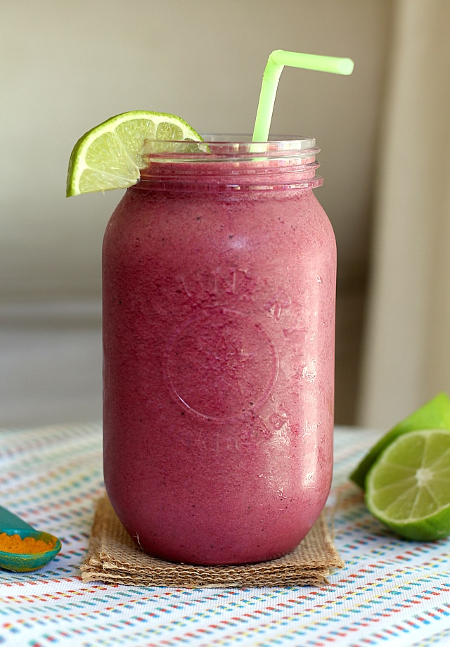 Pitaya Fruit Smoothie With Spinach and Protein
